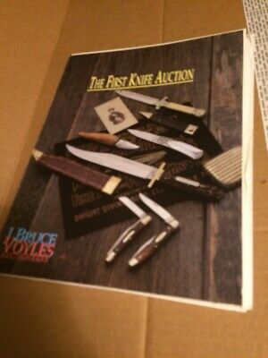 The First Knife Auction J Bruce VOYLES auctioneers - Book W/ Prices Realized
