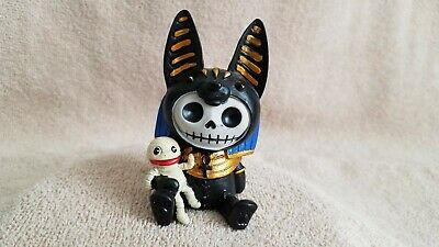 Furrybones Anubis Egyptian God Figurine Skull in Costume Gift New Free Shipping