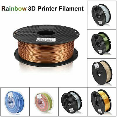 3D Printer Filament Silk FDM PLA 1.75mm 1KG Rainbow Wood White Black Filament
