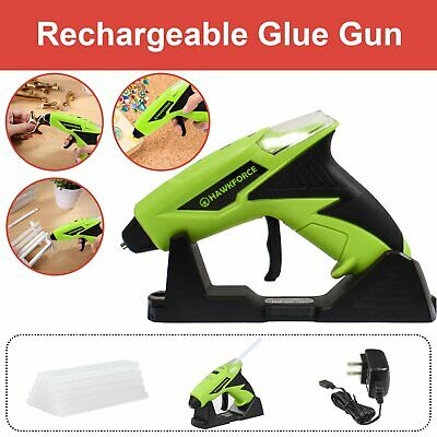 Cordless Hot Melt Glue Gun Electric Heating Craft w/ Stand + 25pcs Glue Sticks