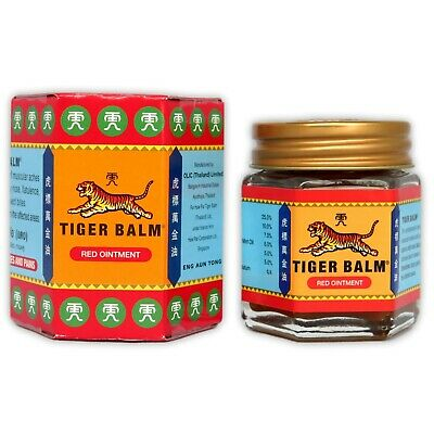 Tiger Balm Red Relief Muscular Aches Pain Sprains Ointment Massage Rub Thai 30g