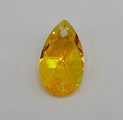 0dd07ce76 Swarovski Crystal Light Topaz Shimmer Pear/ Teardrop 6106 Pendant; 16mm or  23mm