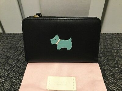 Radley Passport Cover//Holder Leather Heritage Dog Travel Navy