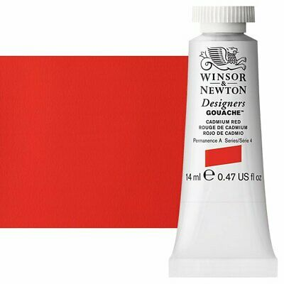Winsor & Newton Designers Gouache 14 ml Tube - Cadmium Red