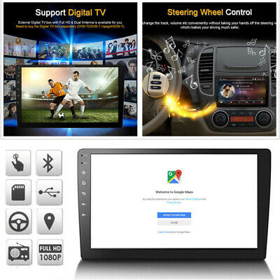 """10.1"""" Android 8.1 Quad Core 2 Din Car Stereo Radio GPS Wifi Touch MP5 Player"""