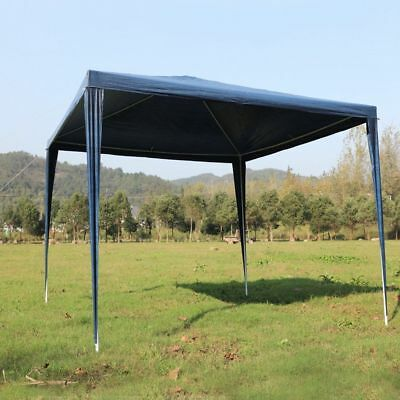 3Mx3M PE Blue Garden Outdoor Gazebo Marquee Canopy Awning Party Wedding Tent