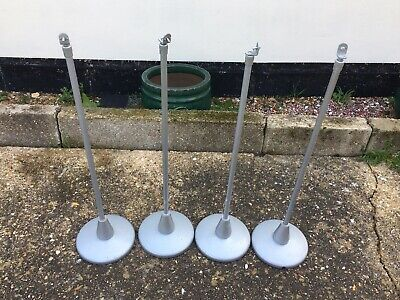 Complete Set of Sony Surround Sound Speaker Stands Silver