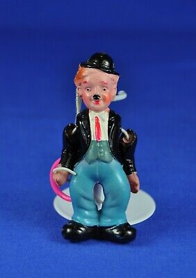 Charly Chaplin Gliederpuppe Zelluloid / Celluloid Jointed Doll, 7 cm, ca. 1930er
