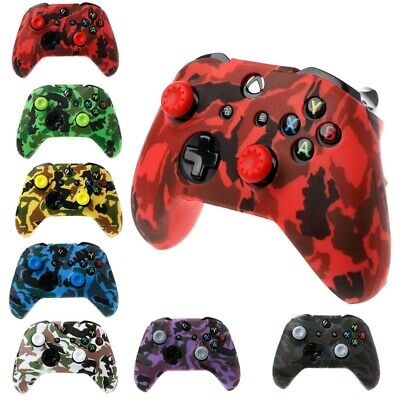 Xbox One Silicone Controller Skin Cover Camo Case Grips for S, X, Elite