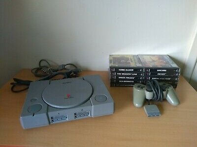 PS1 PlayStation One Console With 10 Games