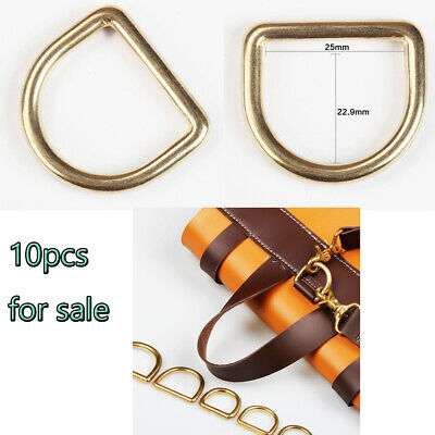 10pcs WUTA DIY Leather Solid Brass Cast D Rings D Ring Buckles 25mm Inside Craft