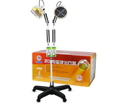 Acupuncture 124mm Double Head Infrared TDP Lamp/Double Timer Heating Lamp 220V
