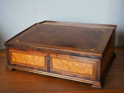 Antique Victorian Writing Slope Mahogany Box Wood Rosewood Maple UK DELIVERY