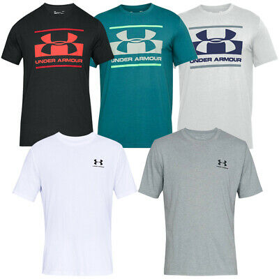 Under Armour ® Mens T-shirt Ua Blocked Sportstyle Logo Charged Cotton