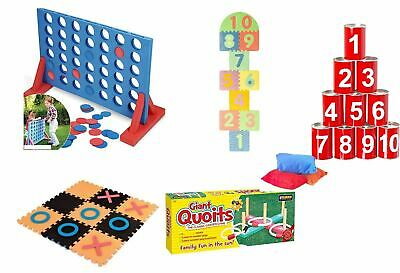 Giant Garden Games Quoits Hopscotch Noughts and Crosses 4 in a Row