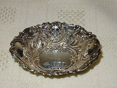 Attractive Vintage Hallmarked Sterling Silver Pin Dish - Broadway & Co - 1981