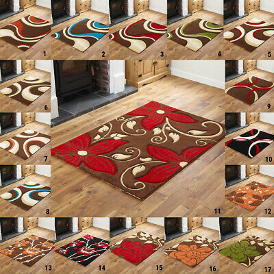 SMALL 60 x 120 cm MULTI COLOR HIGH QUALITY FLOWER CURVED CLEARANCE SALE RUG