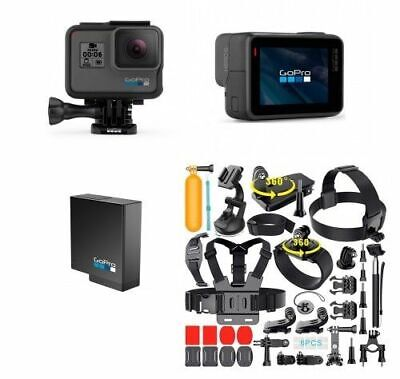 NEW GoPro HERO6 Black Waterproof 4K Sports Action Camera 12MP Wide Angle Hero 6