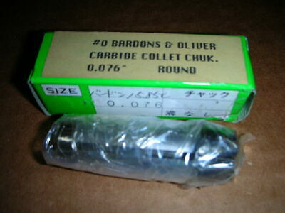Bardons & Oliver #0 Size Carbide Collet Chuck Round Or Square Choice Of Many Nos