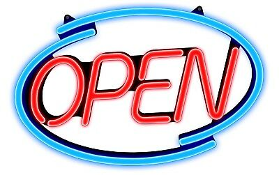 Large Newon LED Multi-Color OPEN Bold Lighted Sign with Effects & Remote, (6114)