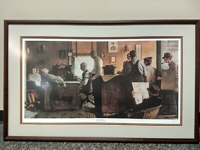 "Norman Rockwell Limited Edition Framed Print -""The Country Editor"""