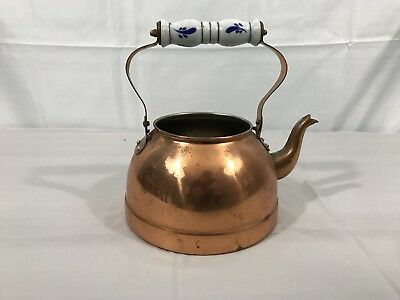 Vintage Tayee Solid Copper Teapot Tea Pot Kettle Taiwan Without Lid