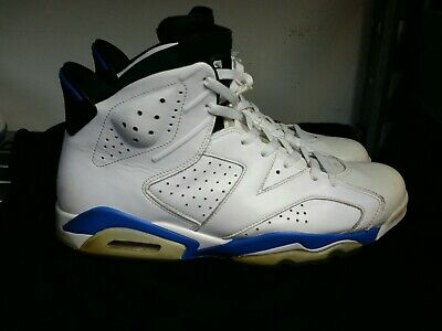 new styles 0191c 74dad Air Jordan VI 6 Retro 2014 White Sport Basketball Blue 384664-107 Size 11.5  Nike