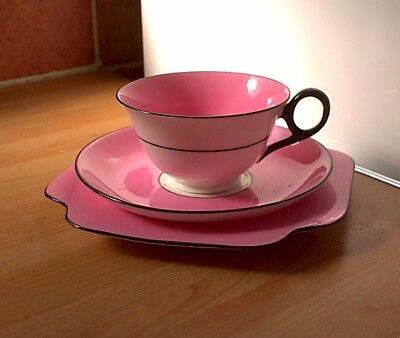 PINK CUP / SAUCER / PLATE Trio, Retro Vintage Shabby Chic
