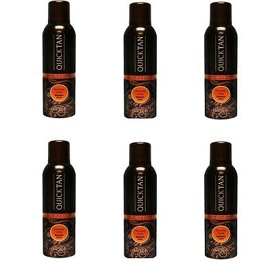 Pack of 6 Body Drench Quick Tan Sunless Tanning Mist Medium Dark 6oz