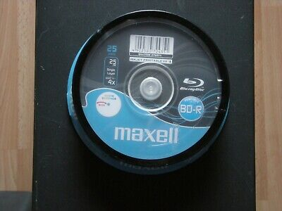 Maxell Bd-R Recordable Blue Ray Discs