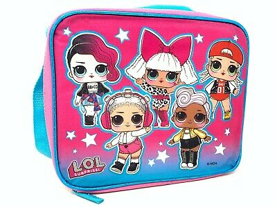 """L.O.L SURPRISE """"ALL GIRLS"""" Lunch Bag with Shoulder Strap LOL Lunch Box"""