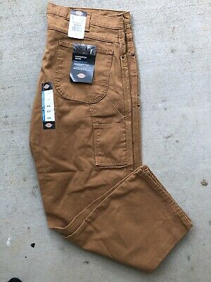 a90726cbfd DICKIES Men's Work Pants Relaxed Fit Carpenter Duck Jean Cotton Khaki 42x30  NEW