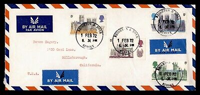 Dr Who 1972 Gb Brighton To Usa Multi Franked Air Mail C73919