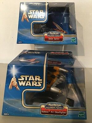 Star Wars Micro Machines Action Fleet Solar Sailer Naboo N-1 Starfighter Set !!!