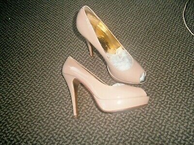 7914cb6512 TED BAKER PEEP Toe Sling Back Heels in Tan colour, size 6, WORN ONCE ...
