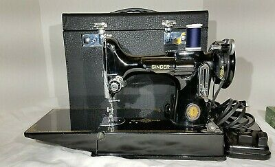 Singer Featherweight 221 Sewing Machine Centennial  New Case, Working Condition