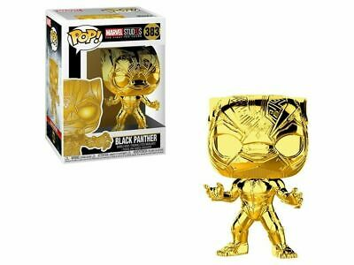 Funko Pop! Black Panther Gold Chrome Marvel Studio (first 10 years) #383 classic