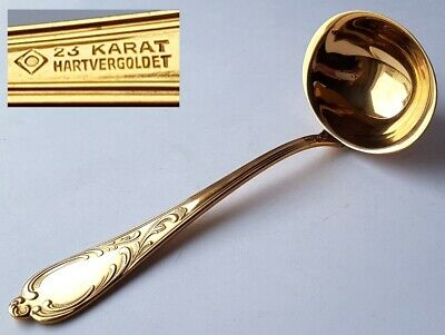 Sauce Ladle in Rococo Style Gold Plated um 1960 M364