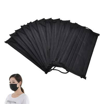 50/100pcs Disposable Flu Mask Mouth Surgical Face Fr Salon Ear Loop Dust Medical