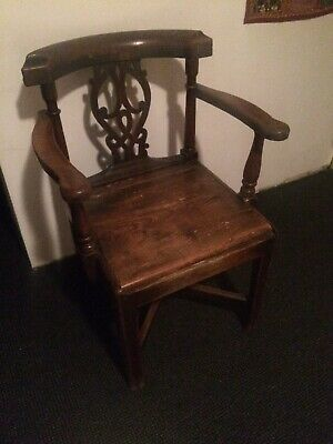 Antique Oak Carver Chair