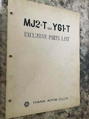 yamaha mj2-t & yg1-t parts list manual oem used