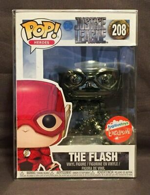 Funko POP! Heroes #208 Justice League: The Flash Black Chrome with protector