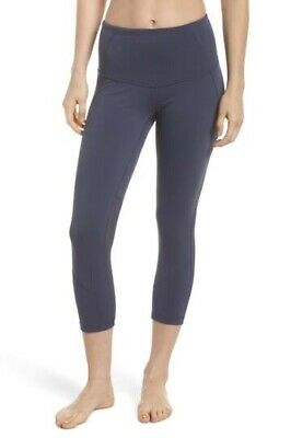 620bd5d48d2c84 RARE Zella Live In Sultry High Rise Waist Mesh Crop Tight Grey Slate Legging  S