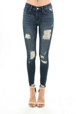 2050e1f521 KANCAN MID-RISE SUPER Skinny Stretch Jeans Womens Size 26 -  25.99 ...