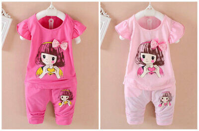 2pcs toddler Kids baby girls summer clothes girls outfits top+short pants