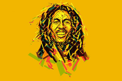 BOB MARLEY V1 LAMINATED ART POSTER 24x36in (61x91cm)