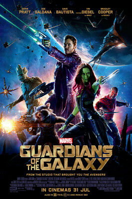 GUARDIANS OF THE GALAXY 1 LAMINATED ART POSTER 24x36in (61x91cm)