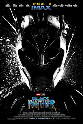 BLACK PANTHER V1 LAMINATED ART POSTER 24x36in (61x91cm)