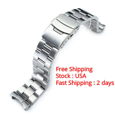 22mm Brushed Oyster Solid Link 316L Stainless Steel Bracelet Seiko watches Diver