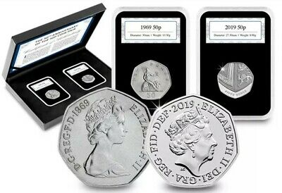 50 years of the 50p – own the limited edition 50th Anniversary coin Pair. 50th